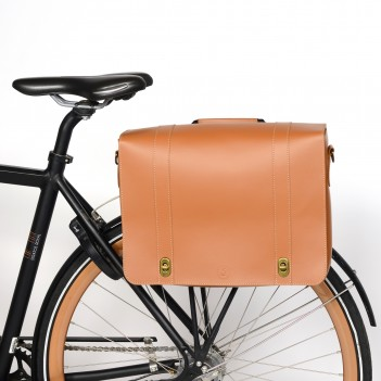 Bicycle bag made of leather