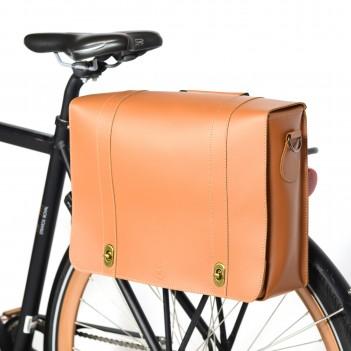 Leather bike bag