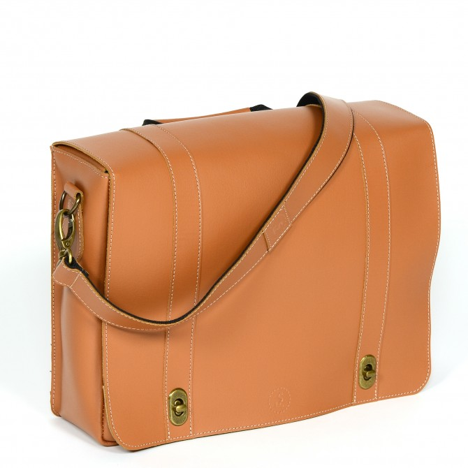 Leather bag for bicycles