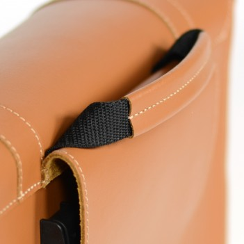 High-quality leather bag for bicycle
