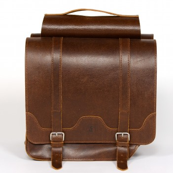 Bicycle panniers made of genuine leather
