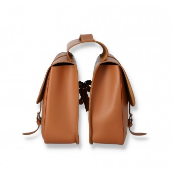Double panniers, leather panniers for bicycle