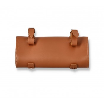 Leather saddle bag, leather bag for handlebars, leather purse for bicycles