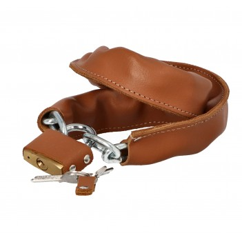 Bike lock with leather cover