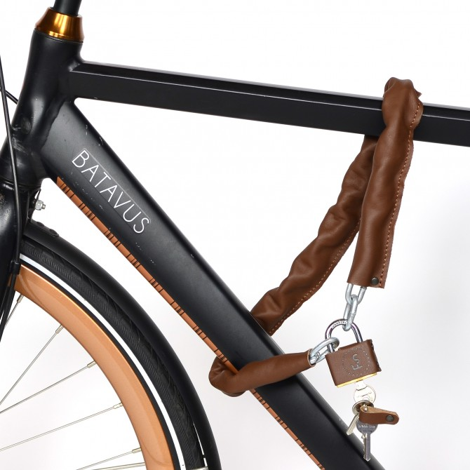 Bicycle leather lock
