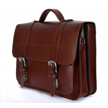 Bicycle leather bag, leather pannier